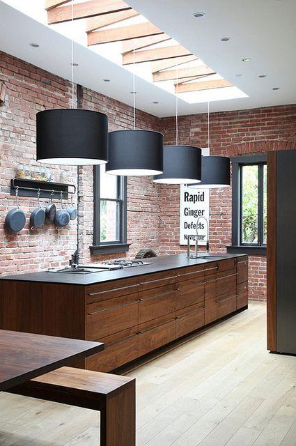 Iluminação natural na cozinha.