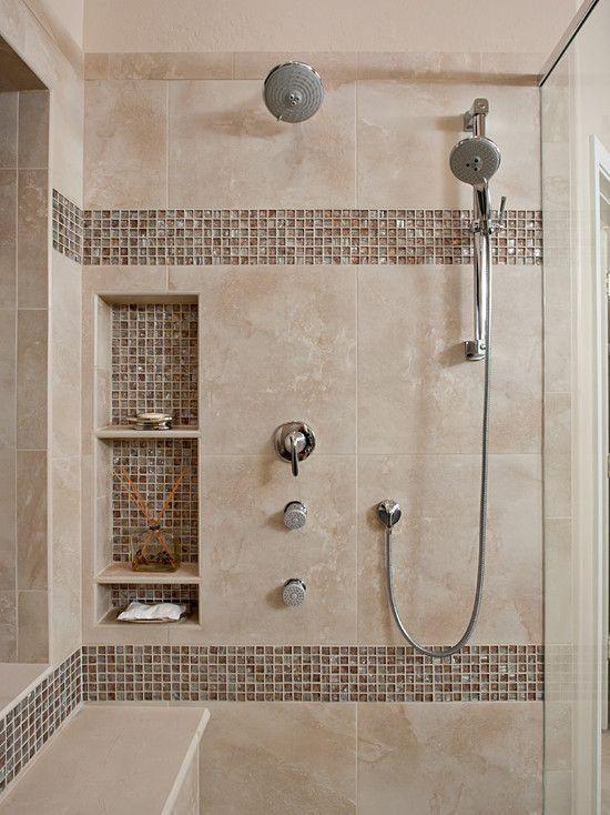 Beautiful Shower Tile Ideas Glass Cover Shower Metalic Shower